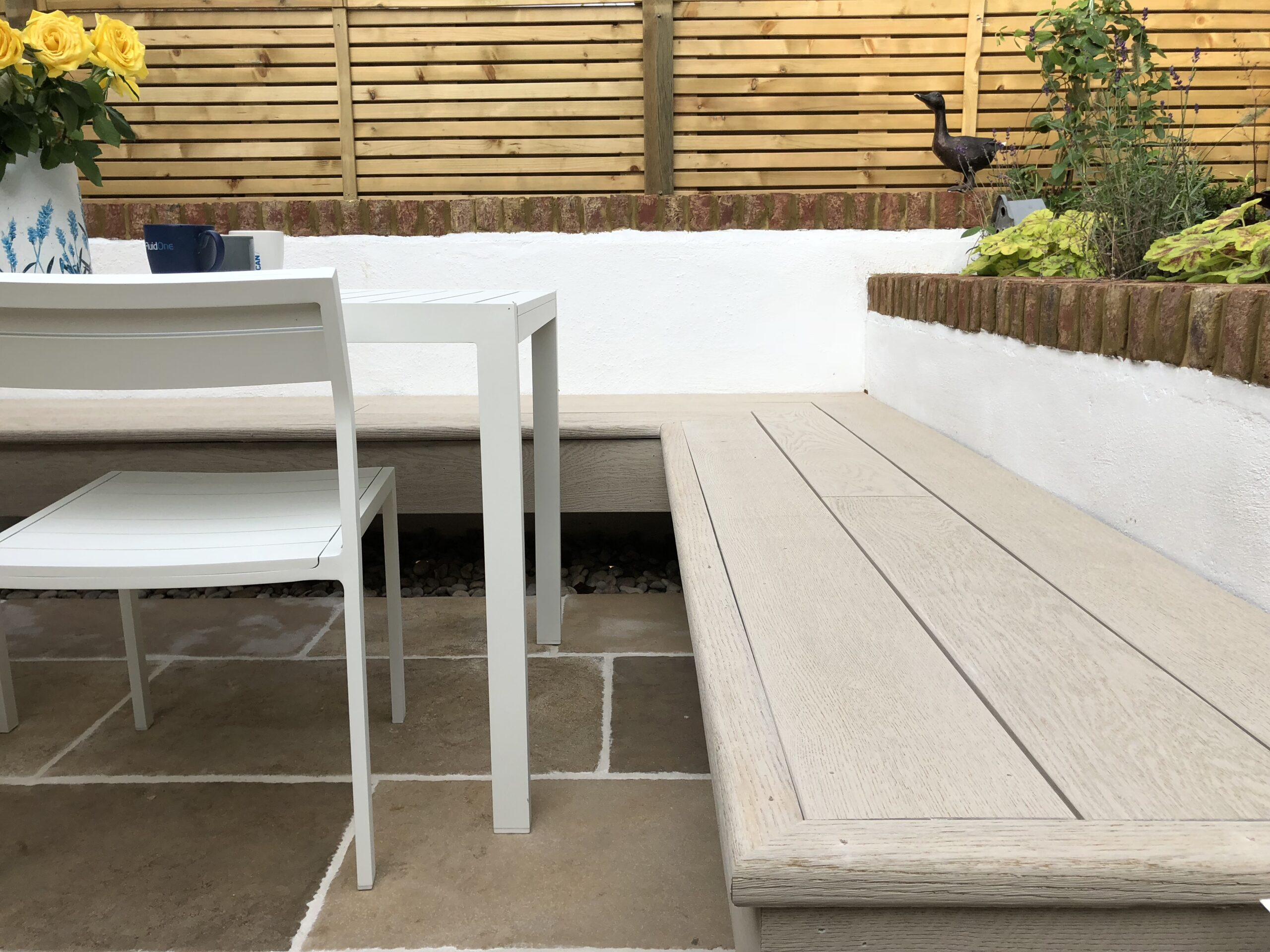 Millboard used as a bench
