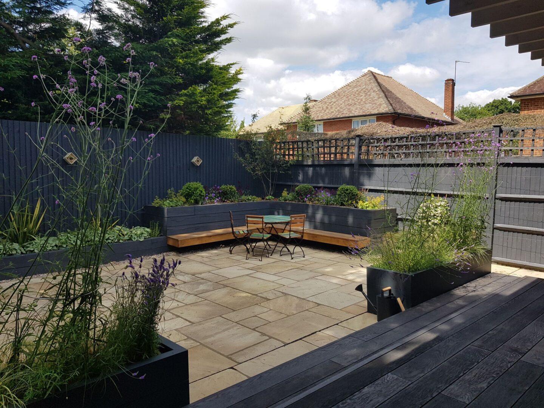 Landscaped garden in Reigate